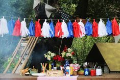 18-septiembre-2015-asado-chile-empanada-cherrytomate-11 4th Of July Party, Fourth Of July, 4th Of July Decorations, Table Decorations, Wonder Woman Party, France, Memorial Day, Ideas Para, Party Themes