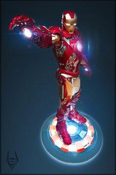 Iron Man by Vinicius Favero, via Behance