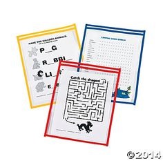 We love these dry erase sleeves because they are so versatile.