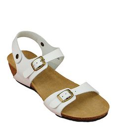 Look at this #zulilyfind! White Page Leather Sandal by California Footwear Company #zulilyfinds