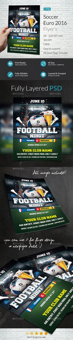 IndWorks (indworks) on Pinterest - soccer flyer template