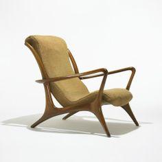 327: Vladimir Kagan / High Back Sculptured Contoured chair < Modern Design, 24 March 2009 < Auctions | Wright