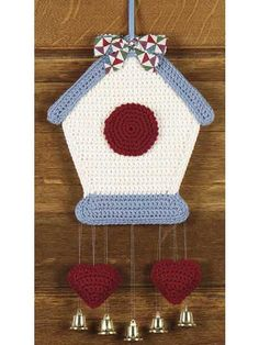 "Free pattern for ""Birdhouse Bells""!"