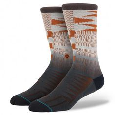 Make your move with Stance's Lurch. The sock's fresh pattern stems from a hand-knit design and—for extra style—its colors are hand dyed. Thanks to the Lurch's 200 needle count and premium combed cotton, the sock delivers a plush ride and plenty of durability. To further hug the contours of your feet, the Lurch sports an elastic arch and deep heel pocket. For an absolute original, look no further than Stance's Lurch $14