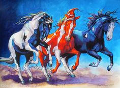 "The Wild Bunch! by Beverly Caputo Watercolor ~ 18"" x 24"""