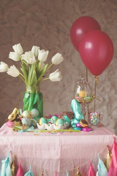 DIY Easter dessert table and decor
