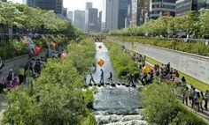 cheonggyecheon linear park, seul, south korea