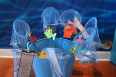 Fishing net party favors