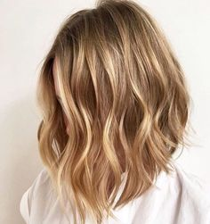 Honey-Blonde-Balayage-Wavy-Lob-Hair-Cuts » New Medium Hairstyles