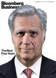En una se ve a un envejecido Mitt Romney con la frase: