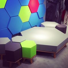 Some funky, modular furniture from six inch here at #neocon13 #neoconography #unbrandeddesigns #furnituredesign - Photo by unbrandedd