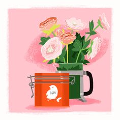 I'm fascinated with tea boxes. Lov Organic have bright and yummy colors…