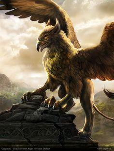 Grifo é uma criatura lendária com cabeça e asas de águia e corpo de leão. Fazia seu ninho em bolcacas (nome usado para o ninho do grifo conforme a mitologia grega) e punha ovos de ouro sobre ninhos também de ouro. Outros ovos são frequentemente descritos como sendo de ágata.