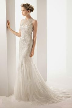Elegant Sheath Wedding Dresses for Your Big Day | Wedding Dresses Inspiration                                                                                                                                                                                 More