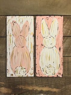Bunny art for twins Easter Art, Easter Crafts, Easter Decor, Easter Bunny, Spring Art, Spring Crafts, Holiday Crafts, Easter Paintings, Bunny Painting