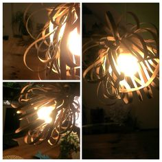 Wooden chandelier. Info: http://handmade-decorating.wix.com/hand.
