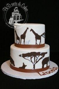 animal silhouette cake
