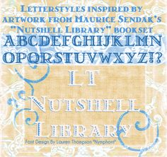 LT Nutshell Library font by Nymphont - FontSpace
