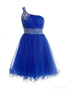 One Shoulder Royal Blue Homecoming Dress,Sexy Party Dress,Charming Homecoming Dress,Pretty Graduation Dress,Homecoming Dress ,H62