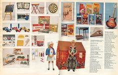The second of two double-page spreads of Toys in Woolworths first Christmas Catalogue, which was stapled into the centre of The Radio Times in November 1973