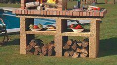Barbacoas de obra   Chimeneas Pio Bbq Kitchen, Entryway Tables, Home Decor, Barbecue Design, Barbecue Garden, Fire Places, Gardens, Decoration Home, Room Decor