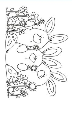 Three rabbits Transparent Clear Stamps Silicone Seals for DIY scrapbooking photo album Card Making-in Stamps from Home & Garden on AliExpress Easter Colouring, Colouring Pages, Adult Coloring Pages, Coloring Pages For Kids, Coloring Books, Spring Coloring Pages, Pinguin Illustration, Tampons Transparents, Fabric Stamping