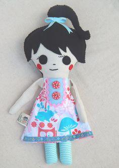 Plush Softie Doll Mila by MsBittyKnacks on Etsy