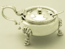Sterling Silver Mustard Pot by Nayler Brothers - Vintage 1948