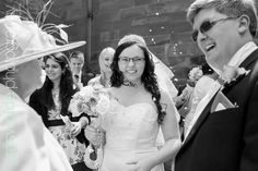 Bride and Groom chat to guests outside the church at Weston Park Weston Park, Groom, Wedding Photography, Bride, Fashion, Wedding Bride, Moda, Bridal, Fashion Styles