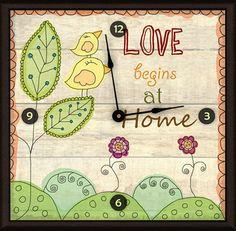 """Love at Home 20"""" Art Wall Clock"""
