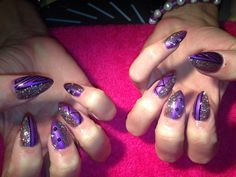 Purple Velvet and great nail art from Sarah Wood