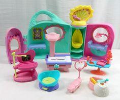 Currently Up For Auction On eBay. Ending 9/5. Littlest Pet Shop Get Better Center Vet Animals Hospital Play Set Lot LPS 2005 #Hasbro