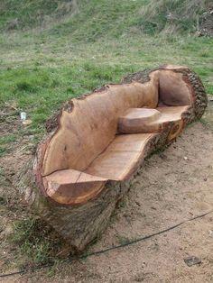 Baumstamm möbel