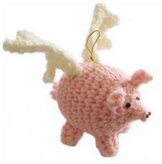 Amigurumi Flying Pigs | AllFreeCrochet.com
