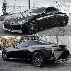 Lexus LC 500 on Lexani Wheels style Wraith on Lexani tires Lexus Suv, Audi, Porsche, Bmw I8 Black, Lamborghini, American Racing Wheels, Lux Cars, Car Gadgets, Tuner Cars