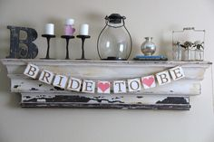 Bride To Be Banner  Decoration for Bridal Shower  by GreenJazzFace, $22.00