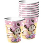 1st Birthday Minnie Mouse Cups 8ct (2.17)