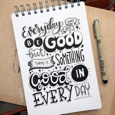 There is something good in every day! 😊✨ . . 66/365 of my project  #365daysoflettering #orahandlettering