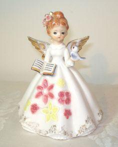 "Vintage RARE Josef Originals Angel Bible Bluebird 6 1 2"" Figurine Doll Tall | eBay"