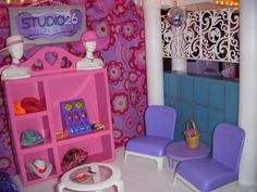 Barbie Salon Waiting Area Plastic Shelving Units, Barbie Store, Salon Waiting Area, Plastic Shelves