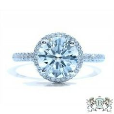 Blount Jewels 2.42 Cttw Round Diamond Engagement Ring In 18k White Gold