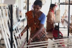 This woman was employed by our collaboration with major brands and now has the power to live independently and guarantee food on her table Handloom Weaving, Gorgeous Women, Sequin Skirt, Short Sleeve Dresses, Skirts, Woman, Collaboration, Artisan, Future