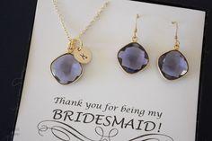 Demoiselle d'honneur 4 collier et boucle par LaurieBWeddings