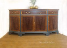 Gorgeous Bevan Funnel sideboard painted in fusion homestead blue. Now for sale!! Painted Sideboard, Paint Furniture, Homestead, Cabinet, Boho, Storage, Unique, Painting, Home Decor