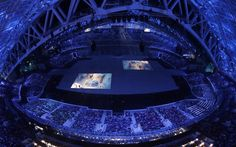 Sochi 2014 Winter Olympics opening ceremony - Images are projected on the floor during the ceremony
