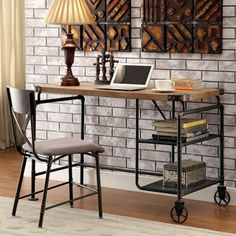 Mid Century Industrial Style Home Office Collection - 18724173 - Overstock.com Shopping - Great Deals on Desks