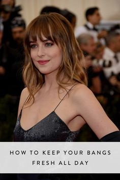 This is how to rock your bangs all day long with out any greasiness.