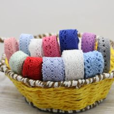 1-3cm  20yards of cotton lace fabric DIY fabric lace flower gift ribbon decoration materials colour cotton lace