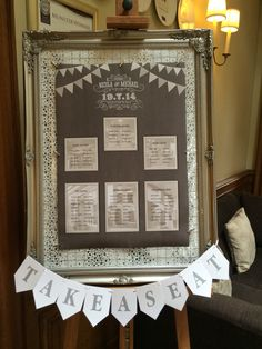 A pretty table plan display at the Munster Room. Next Wedding, Wedding Fair, Hotel Wedding, Wedding Reception, Wedding Venues, Waterford Castle, Wedding Decorations, Decor Wedding, Wedding Ideas