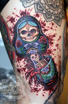 Dying On The Inside.Tim Kern #InkedMagazine #tattoo #RussianDoll #tattoos #Inked #skeleton #inked #Ink